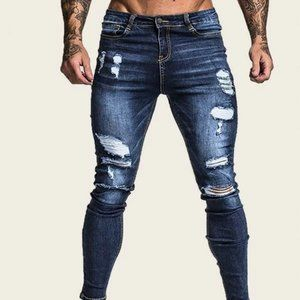 Other - Blue Men Ripped Skinny Jeans in 36 and 38